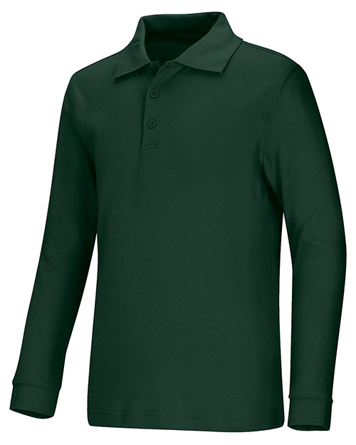 Classroom Uniforms 58732  Youth  Long Sleeve Interlock Polo at GotApparel
