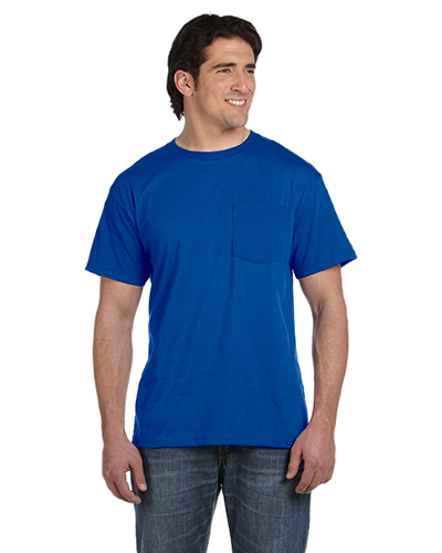 Fruit of the Loom 5930P  Best™ 5.4 oz 50/50 Pocket T-shirt ROYAL at GotApparel