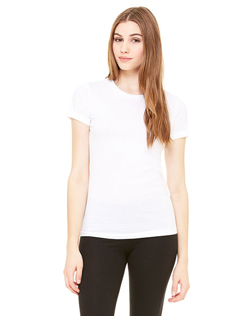 Bella + Canvas 6000 Women Jersey Short-Sleeve T-Shirt White at GotApparel
