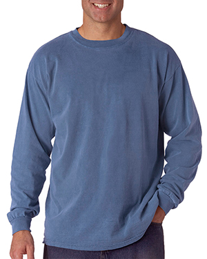 Chouinard 6014 Comfort Colors by  Adult Heavyweight Long-Sleeve Tee Blue Jean PgmDye at GotApparel