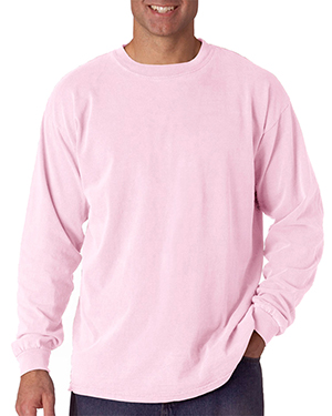 Chouinard 6014 Comfort Colors by  Adult Heavyweight Long-Sleeve Tee Blossom DirDye at GotApparel