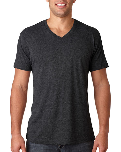 Next Level 6040 Men Triblend V-Neck Vintage Black at GotApparel