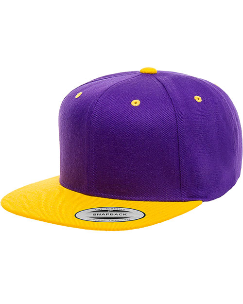 b9d7cf96d0fd3 Yupoong 6089 Unisex 6-Panel Structured Flat Visor Classic Snapback at  GotApparel