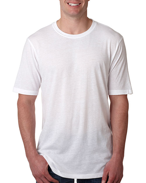 Next Level 6200 Men Poly/Cotton Short-Sleeve Crew Tee White at GotApparel