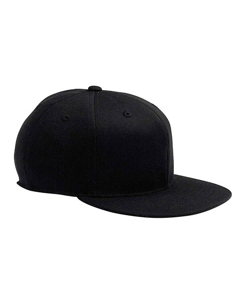 Yupoong 6210 Men Premium Fitted Cap Black at GotApparel