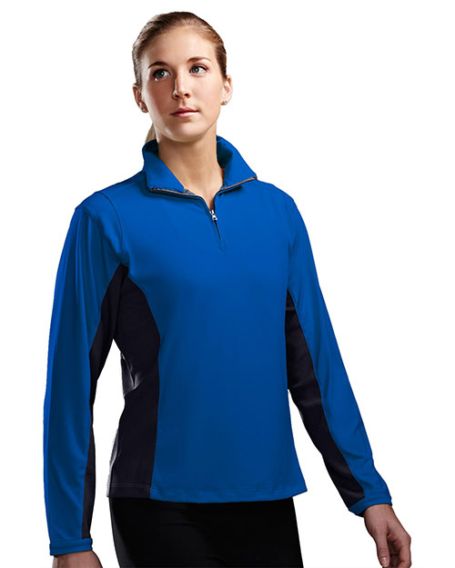 TM Performance 621 Women Dash 1/4-Zip Ultracool Pullover Shirt at GotApparel