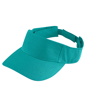 Augusta 6226 Boys Sport Twill Visor Teal at GotApparel