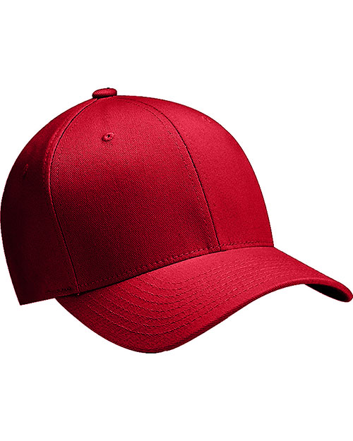 Yupoong 6277Y Kids Wooly 6-Panel Cap Red at GotApparel