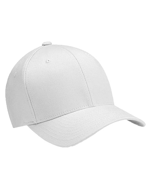 Yupoong 6277 Unisex Wooly 6-Panel Cap White at GotApparel