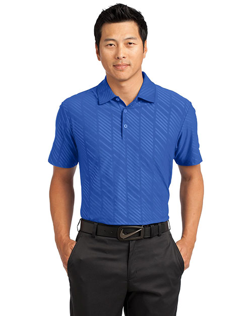 Nike 632412 Men 5.8 oz Dri-FIT Embossed Polo at GotApparel