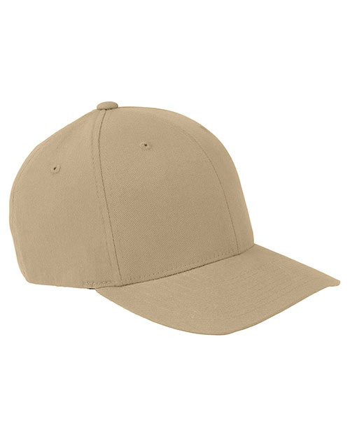 Yupoong 6377 Unisex Brushed 6-Panel Cap Khaki at GotApparel
