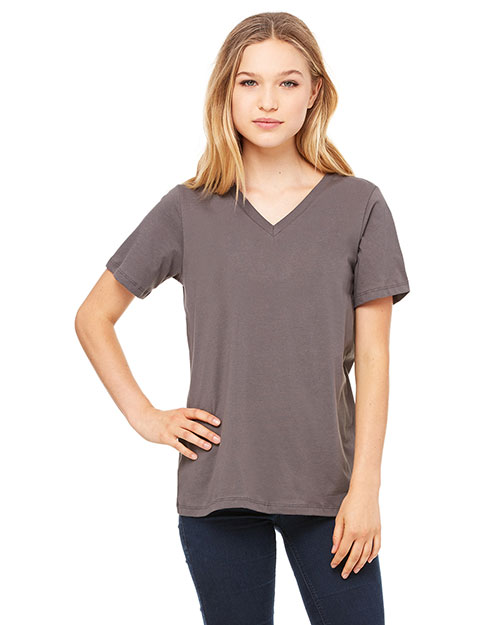 Bella + Canvas 6405 Women Missy's Relaxed Jersey Short-Sleeve V-Neck T-Shirt  at GotApparel