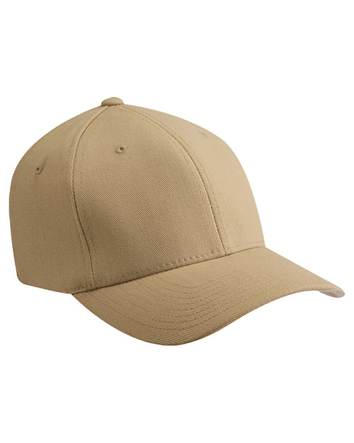 Yupoong 6477 Unisex Wooly Blend 6-Panel Cap Khaki at GotApparel