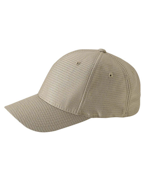 Yupoong 6572 Unisex Cool & Dry Tricot Cap Khaki at GotApparel