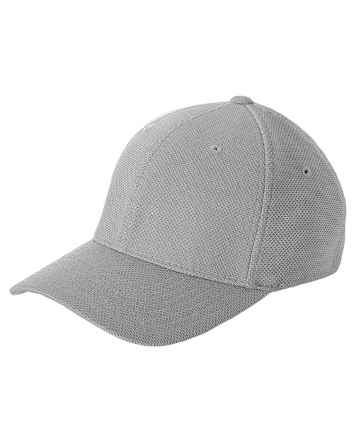Yupoong 6577CD Unisex Cool & Dry Pique Mesh Cap Silver at GotApparel