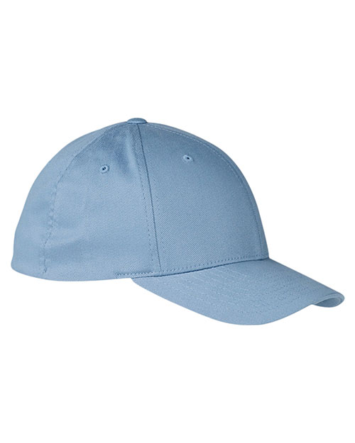 Yupoong 6590 Unisex Organic Brushed Twill Low-Profile Cap Light Blue at GotApparel