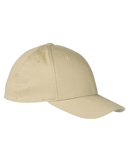 Yupoong 6590  Unisex Organic Brushed Twill LowProfile Cap Khaki at GotApparel