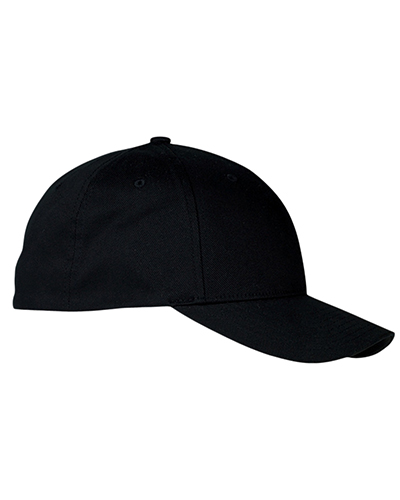 Yupoong 6590 Flexfit® 100% Organic Brushed Twill Low-Profile Cap BLACK at GotApparel