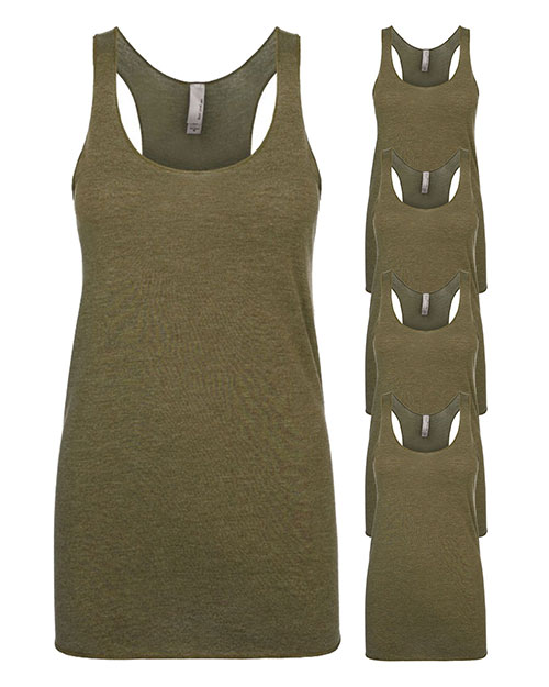 Next Level 6733 Women Tri-Blend Racerback Tank 5-Pack at GotApparel