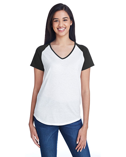 Anvil 6770VL Women Tri-Blend Raglan T-Shirt at GotApparel