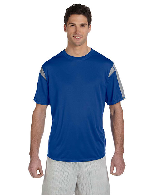 Russell Athletic 6B2DPM Men short sleeve Performance TShirt Royal/Steel at GotApparel