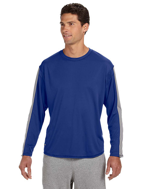 Russell Athletic 6B5DPM Men LongSleeve Performance T-Shirt Royal/Steel at GotApparel