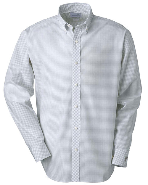 Ashworth 7095C Men Ez-Tech Check Pattern Woven Clay at GotApparel