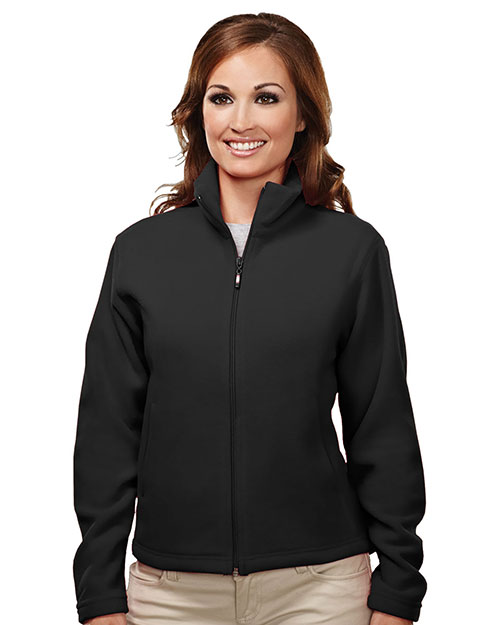Tri-Mountain 7120 Women Windsor Micro Fleece Jacket Black at GotApparel