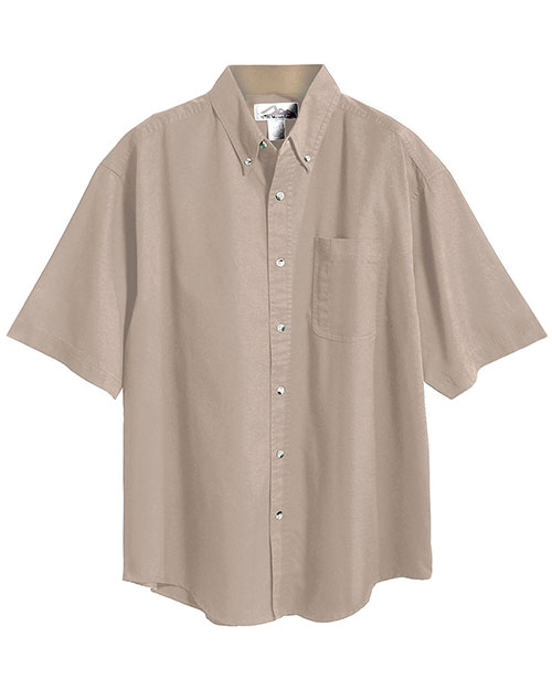 Tri-Mountain 718 Men Easy Care Short-Sleeve Twill Shirt at GotApparel