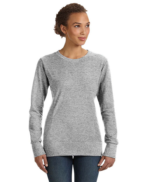 Anvil 72000L Women MidScoop French Terry HEATHER GREY at GotApparel