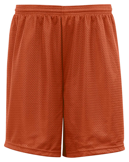 Badger 7209  Adult Mesh/Tricot 9-Inch Short Burnt Orange at GotApparel