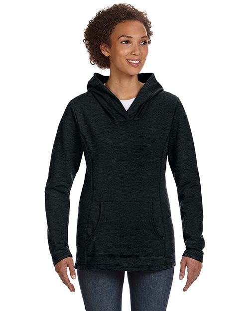 Anvil 72500L Women Hooded French Terry Black at GotApparel