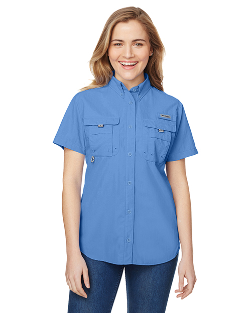 Custom Embroidered Columbia 7313 Ladies 3 oz Bahama Short-Sleeve Shirt at GotApparel