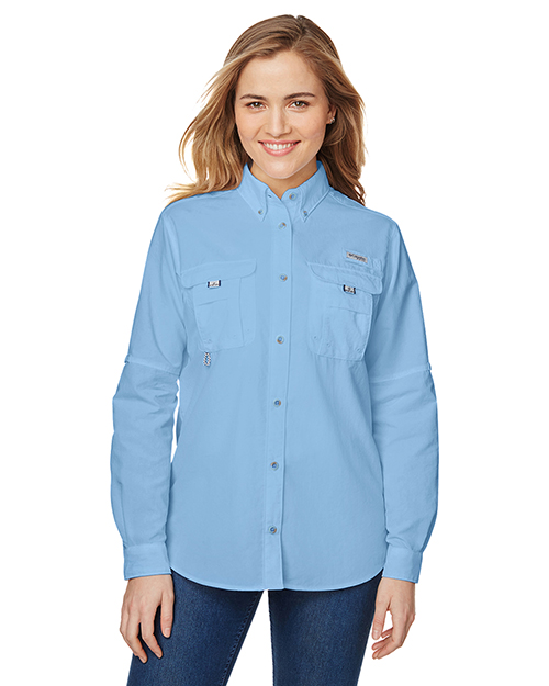 Custom Embroidered Columbia 7314 Ladies 3 oz Bahama Long-Sleeve Shirt at GotApparel