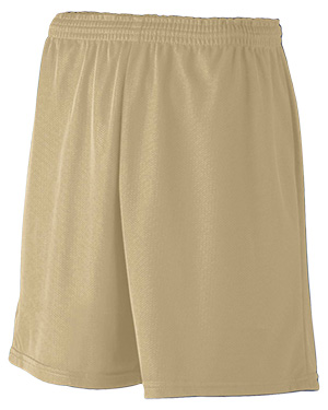 Augusta 734 Boys Mini Mesh League Short Vegas Gold at GotApparel