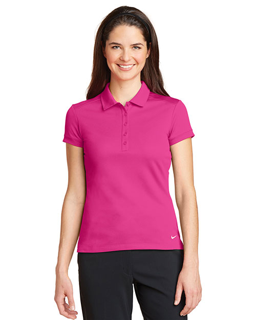 Nike 746100 Women Ladies Dri-FIT Solid Icon Pique Modern Fit Polo. at GotApparel