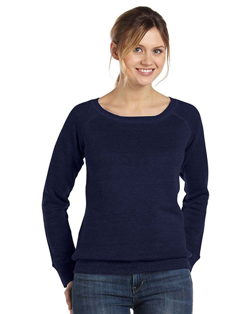 Bella + Canvas 7501 Women Sponge Fleece Wide Neck Sweatshirt at GotApparel