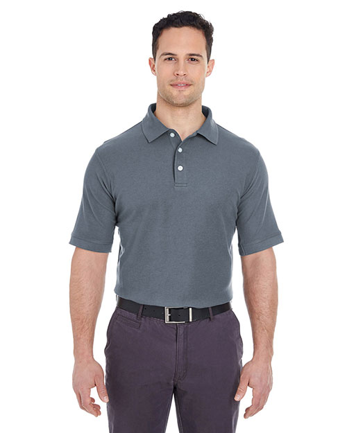UltraClub 7510 Men Platinum Honeycomb Pique Polo at GotApparel