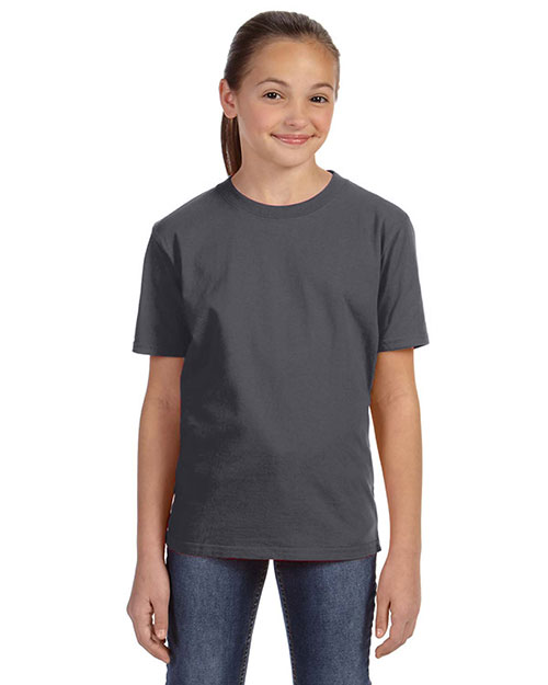 Anvil 780B Girls Midweight T-Shirt Charcoal at GotApparel