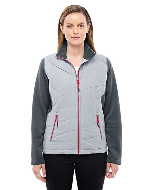 North End 78809 Women's Quantum Interactive Hybrid Insulated Jacket at GotApparel