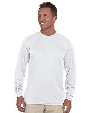 Augusta 788 Men Wicking Long Sleeve T White at GotApparel