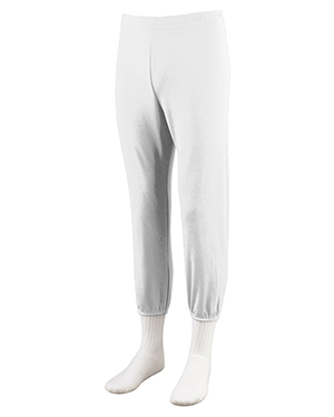 Augusta 804 Boys PullUp Baseball Pant White at GotApparel