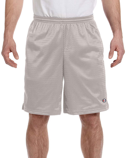 Champion 81622 Men 3.7 oz. Mesh Short with Pockets Athletic Grey at GotApparel