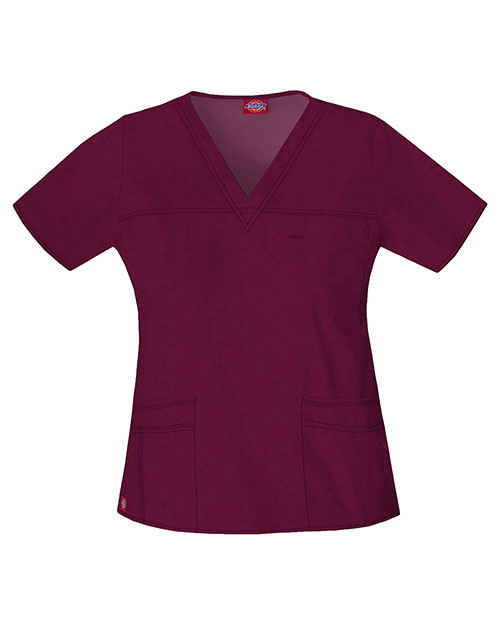 Dickies Medical 817455 Women V-Neck Top at GotApparel