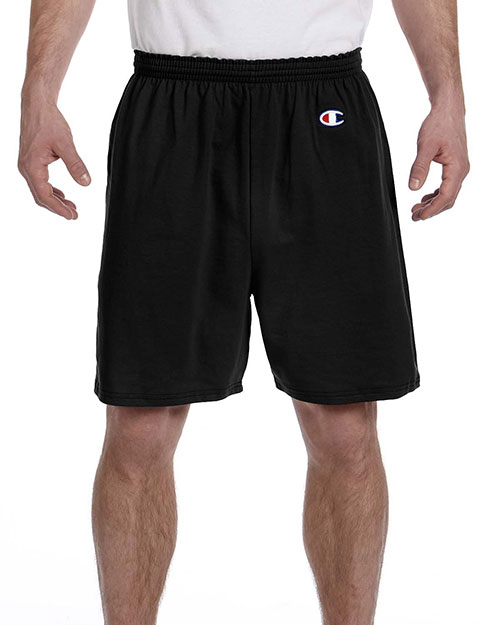 Champion 8187 Men 6 oz. Cotton Gym Short Black at GotApparel