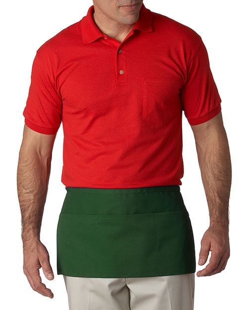 UltraClub 8203  Unisex 3Pocket Waist Apron Forest Green at GotApparel