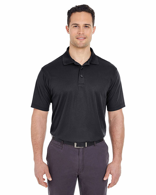 UltraClub 8210 Men Cool & Dry Mesh Pique Polo Black at GotApparel