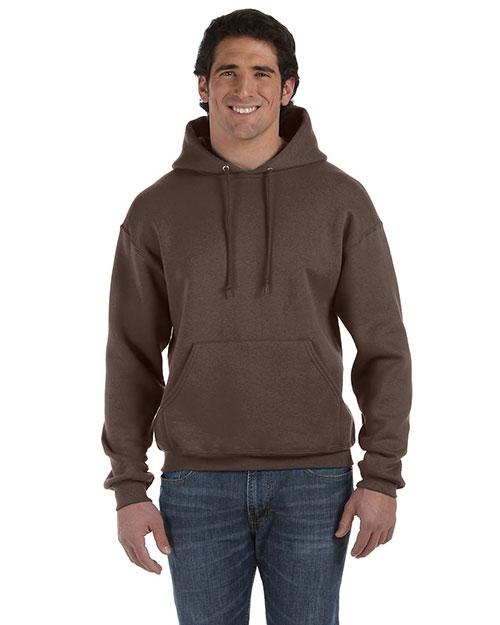 Fruit of the Loom 82130 Men 12 oz. Supercotton 70/30 Pullover Hood Chocolate at GotApparel