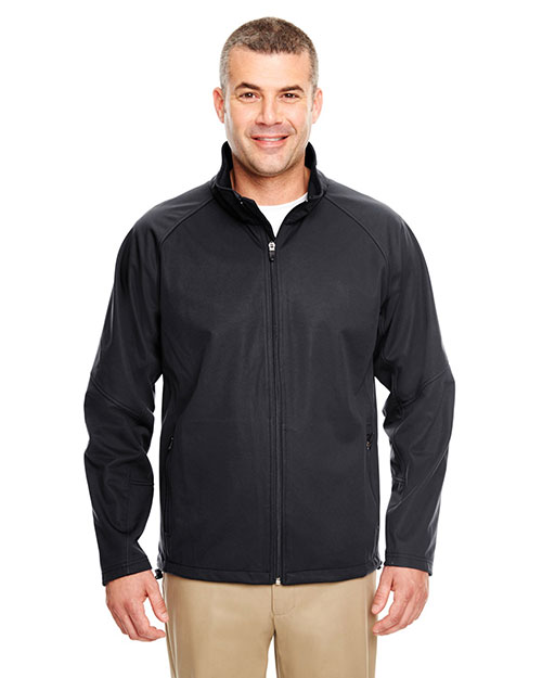 UltraClub 8275 Men 2Tone Soft Shell Jacket Black at GotApparel