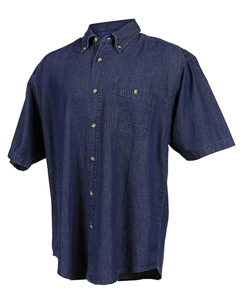 Tri-Mountain 828 Men Scout Denim Short-Sleeve Shirt at GotApparel
